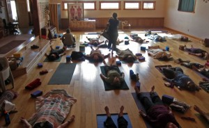 The large space offers plenty of room for special yoga retreats